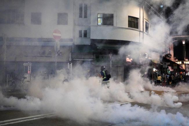 今日是香港721元朗襲擊事件滿三個月的日子。(美聯社)
