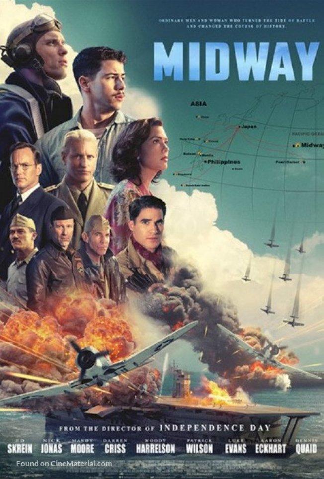 「決戰中途島」由拍攝「明天過後」與「2012」的導演羅蘭艾默瑞克拍攝,吸引大批明星陣容,雖然在夏威夷拍攝,部分故事在中國。(獅門公司提供)