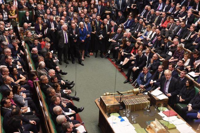 英國下議院等候脫歐法案時間表的表決結果,這個動議最後遭到否決。歐新社