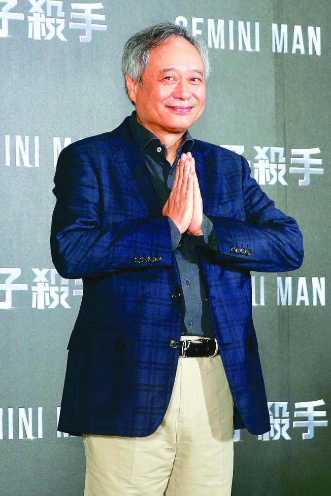 導演李安今年帶著新作品「雙子殺手」回家鄉台灣宣傳。(記者林伯東/攝影)