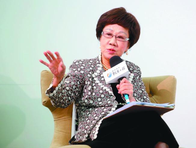 前副總統呂秀蓮。(記者余承翰/攝影)