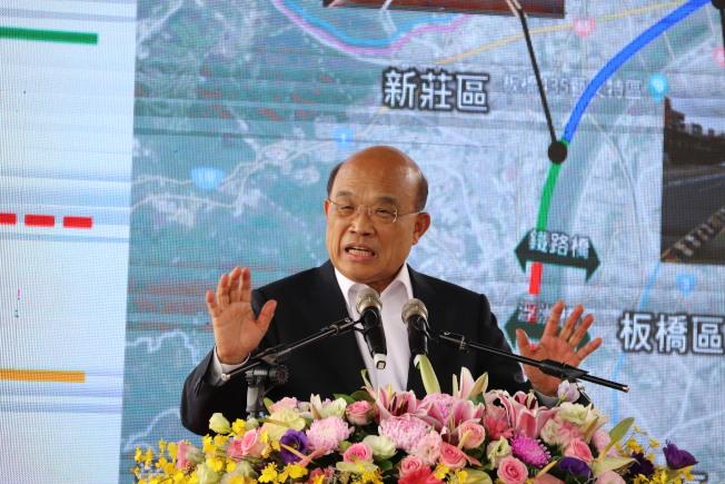 行政院長蘇貞昌昨天表示,台灣沒有放棄司法管轄權,一但陳同佳入境台灣,就把他逮補歸案。記者胡瑞玲/攝影