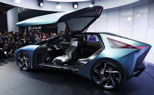 Lexus首度展出電動概念車LF-30 Electrified。 路透社