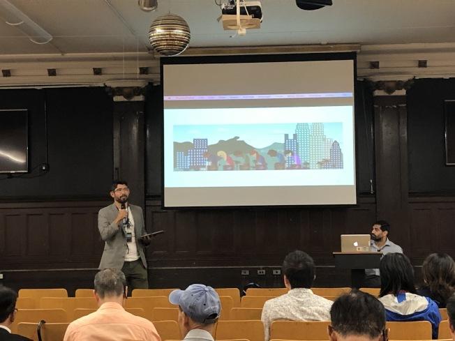 萬齊家10日召開會議,邀請華裔居民就土地用途重新規畫議題表達意見。(記者顏潔恩/攝影)