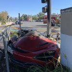 超跑自撞起火 駕駛當場身亡