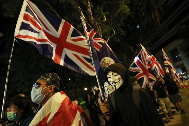 香港近期局勢不穩,有港人促請英國給予香港居民第二公民身分.。(歐新社)
