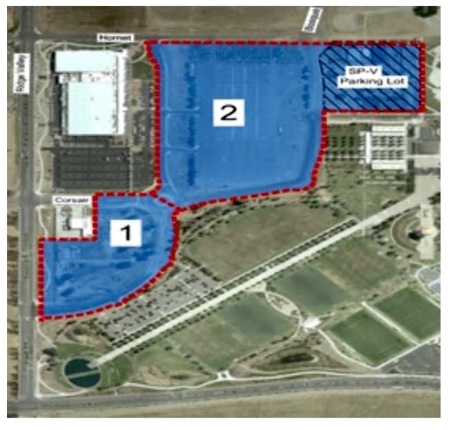 計畫中的大公園水球館位於2號位置。(爾灣市政府資料)