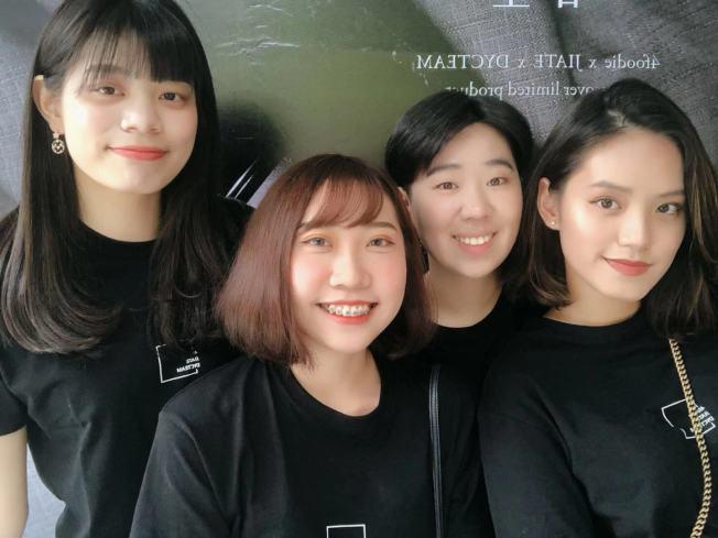 四個90後台灣女生一起經營的美食賬號「4foodie」。(莊沐蓉提供)