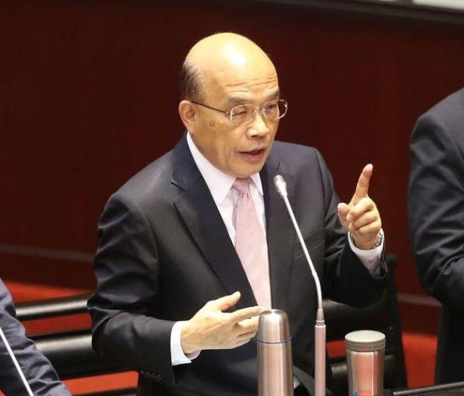 行政院長蘇貞昌。(本報資料照片)
