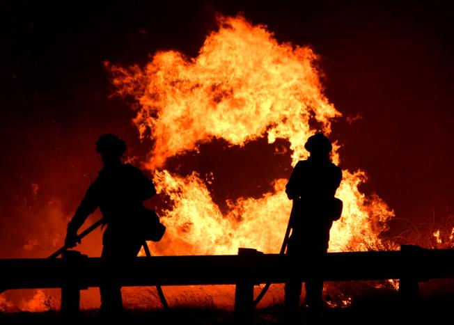 加州野火過處,只留下一片焦土。(路透)