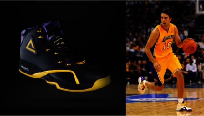 曾為多名NBA球星設計球鞋包括Sasha Vujacic。(蔡魁提供)