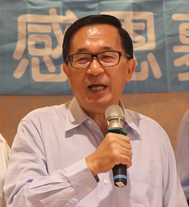 對於行政院長蘇貞昌的「魔鬼說」,前總統陳水扁表示這不是法律人該說的話。(本報資料照片)