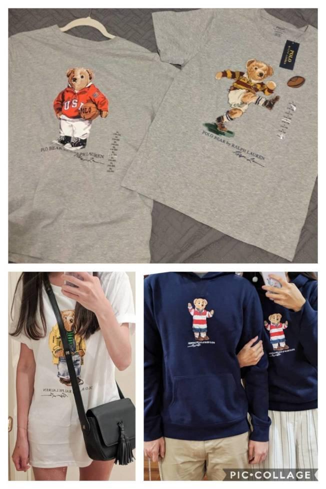 Polo Ralph Lauren的小熊T恤向來是代購夯品。(記者蕭永群/攝影)