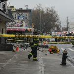 卡車扯倒高壓電桿 砸中布碌崙華人餐館