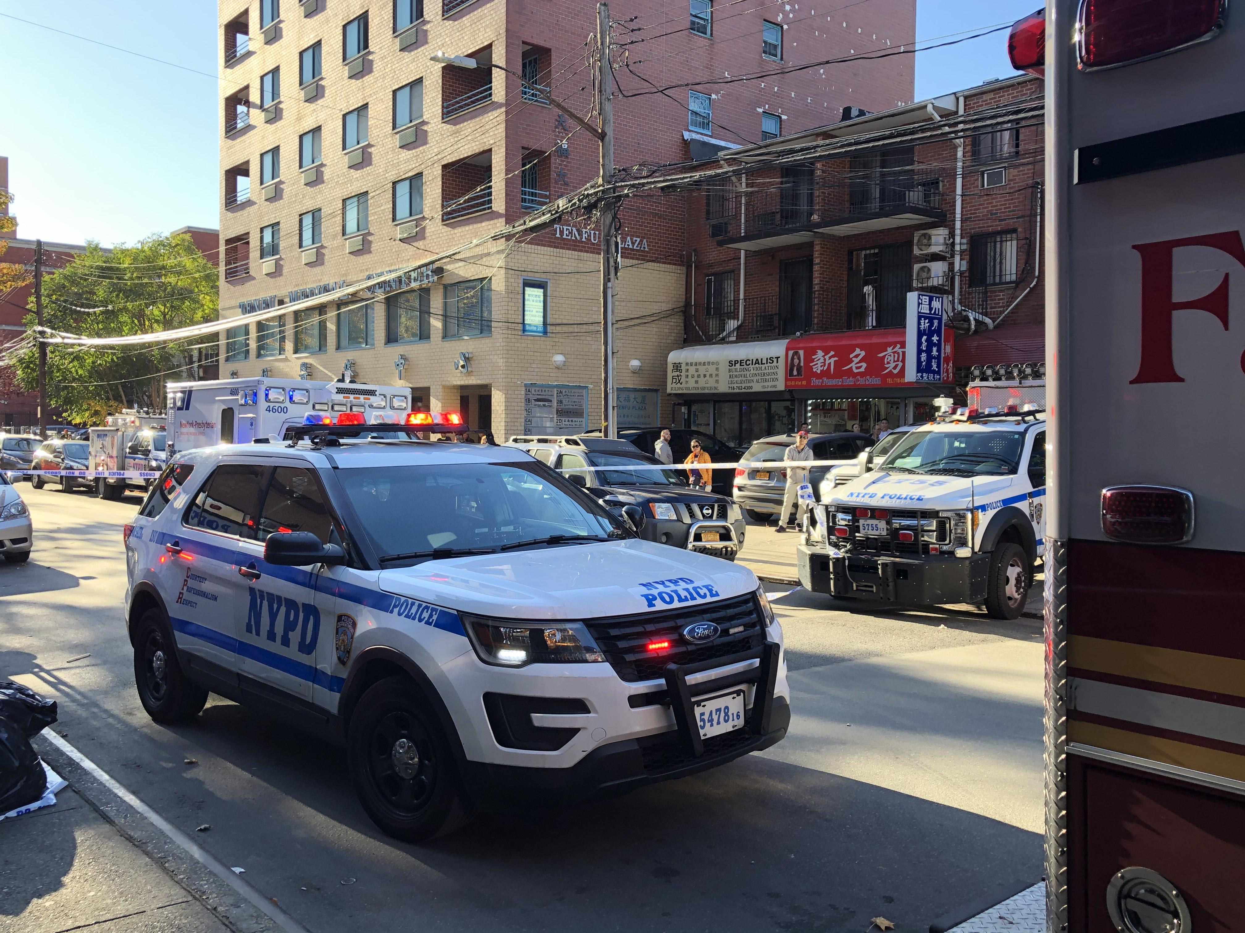 警方封鎖41路。記者朱蕾/攝影
