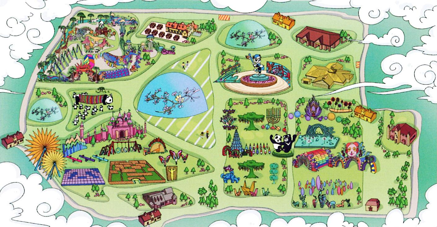 Hello Panda Festival園區示意地圖。(中演北美公司/提供)