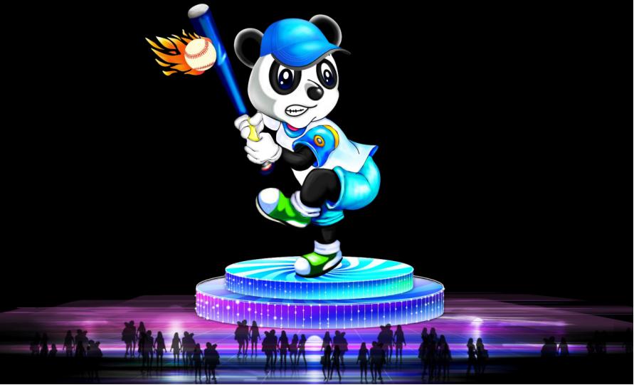 圖3:「棒球熊貓」的形象,是結合花旗球場的棒球主題,體現紐約市民對紐約大都會棒球隊的支持與熱愛。