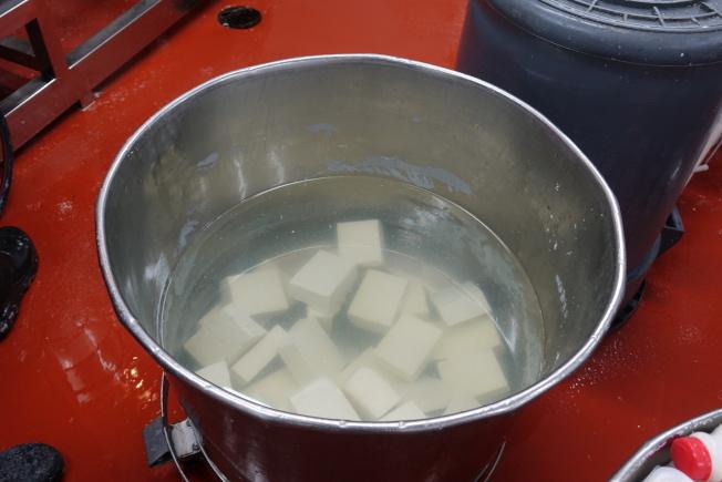 宏安自製的豆腐。(金春香/攝影)