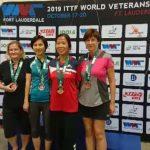 世界乒乓球元老賽 葉瑞玲奪女子50歲組冠軍