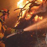 加州山火還在燒 風雖變小 空污嚴重