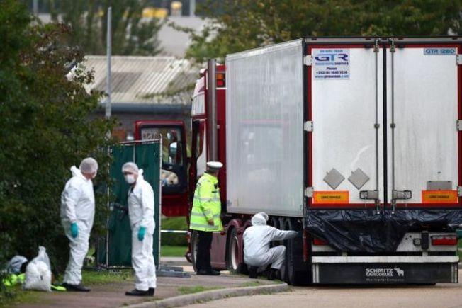 英國貨櫃車39屍命案,英警1日改口稱死者都是越南人。路透