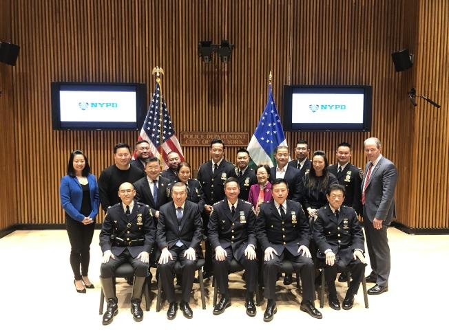 紐約市警察局亞裔警官協會1日成立。(記者張晨/攝影)