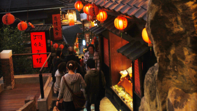九份老街最熱門的阿妹茶樓。(聯合報系資料照片)