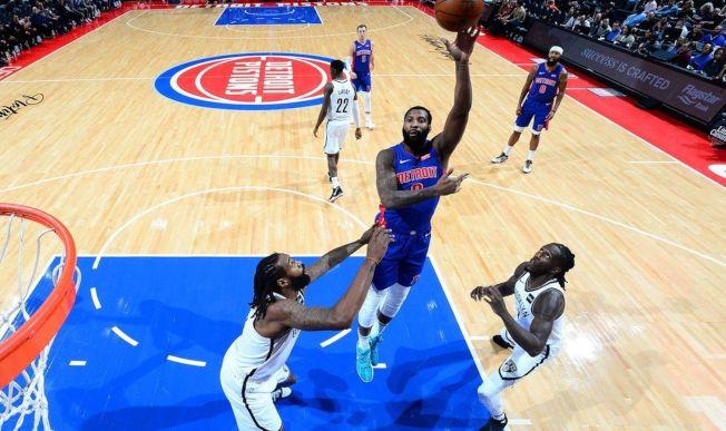 佐德蒙狂砍25分,帶領活塞在主場以113比109擊敗籃網。(Getty Images)