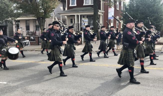 皇后區退伍軍人節大遊行在中村舉行。(記者朱蕾/攝影)