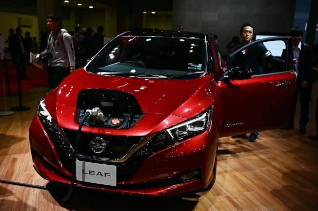 日產汽車也是電動車先鋒之一。(Getty Images)