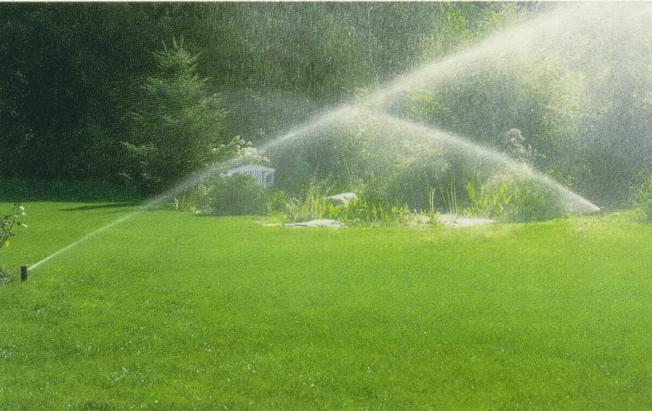 草坪自動澆水,橘郡實施限制澆水,每周僅一日一次。(取自Lowes網頁)