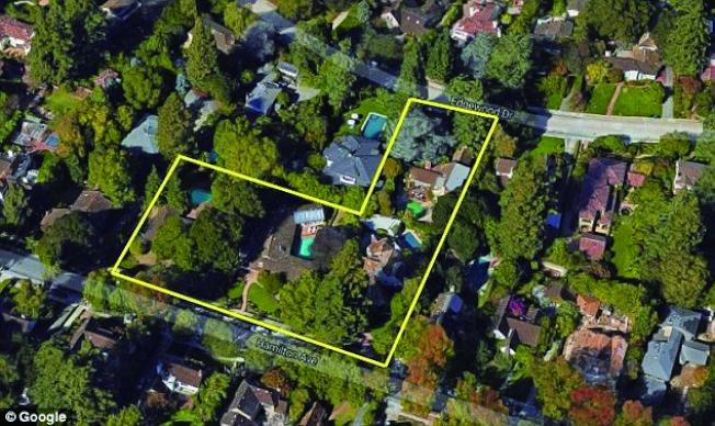 查克柏格為了保護主臥室隱私,以遠高於市價的1400萬元收購舒曼夫婦的舊屋。(Google Maps)