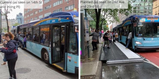 未來建置的七個平台,將可讓司機載客時不需切換車道,藉此減少時間以提高公車速度。(取自市交通局推特)
