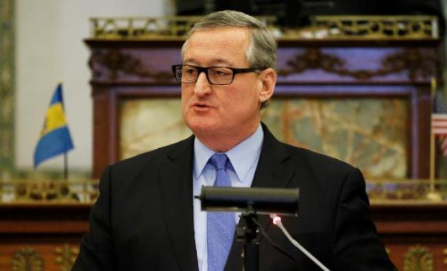 費城市長肯尼當選連任。(美聯社)