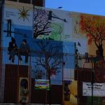日落公園小學壁畫 關注心理健康