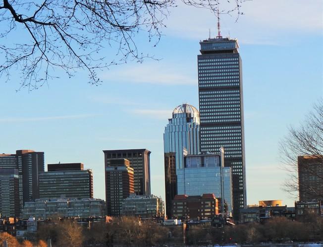 52層的「保德信大樓」是波城第二高大樓。(記者唐嘉麗/攝影)