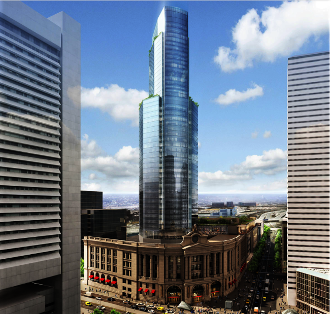 南站大樓有了新的投資商,有望在明年動工。(取自開發商官網)