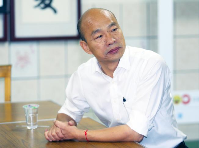 國民黨總統參選人韓國瑜。(記者陳正興/攝影)