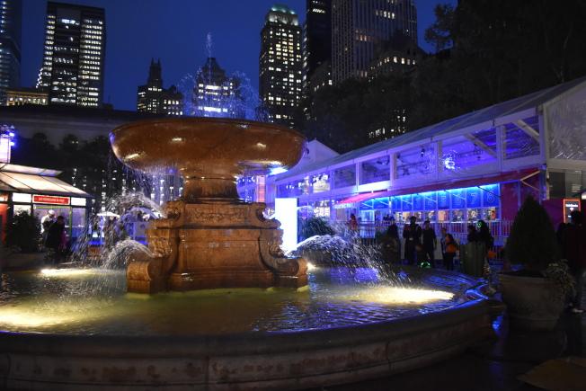 布萊恩公園的冬季市集被評選為紐約市五大節日冬季市集之一。(記者顏嘉瑩/攝影)