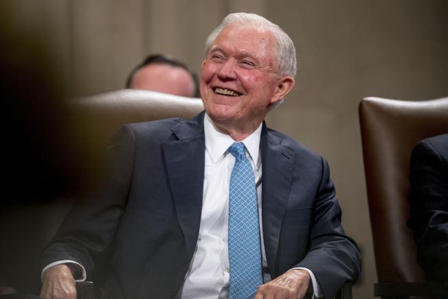 72歲的前司法部長塞辛斯7日宣布,他將加入阿拉巴馬州聯邦參議員的選戰。(美聯社)