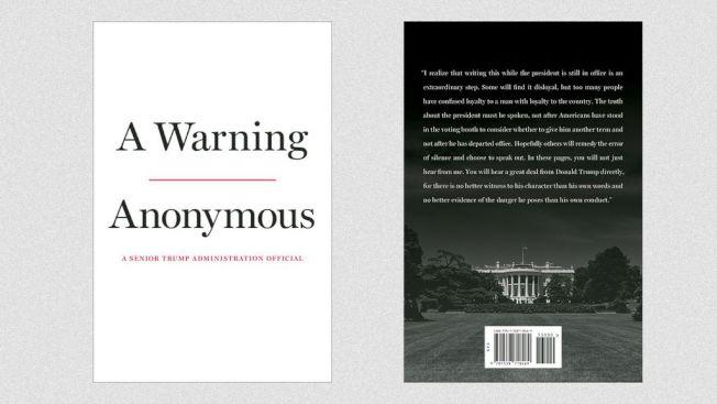 由「匿名」作者寫的新書「警告」,爆料稱副總統潘斯支持挪開川普總統。(Axios)