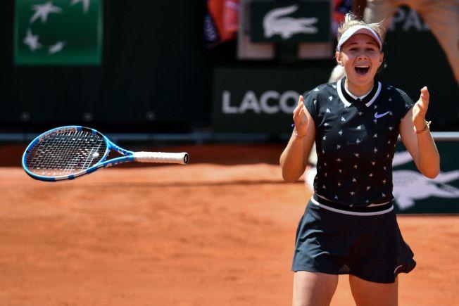 在紅土大滿貫法網打進四強,是安妮西莫娃至今最重大成就。(Getty Images)