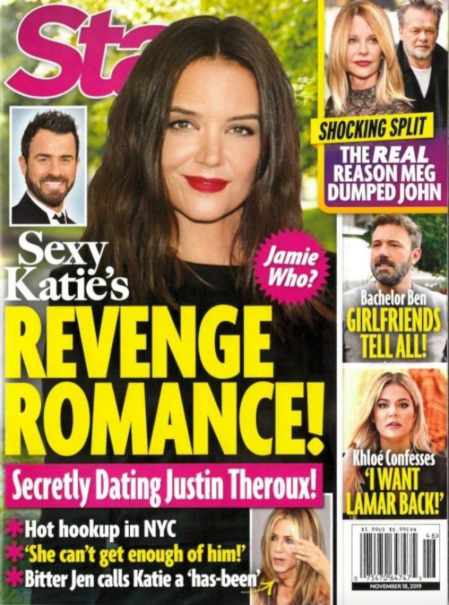 凱蒂荷姆絲被指與賈斯汀賽洛在紐約打得火熱。圖/摘自Star