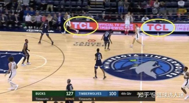 TCL的廣告出現在NBA賽場上。(取材自知乎)