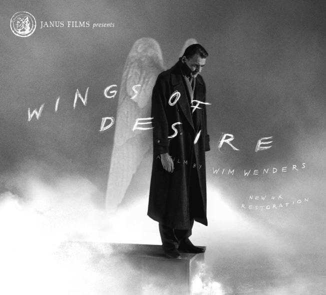 《欲望之翼》的英語電影海報。