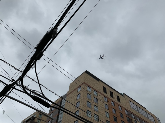 FAA賦予社委會監督航線權,確保美網公開賽特定時段沒有飛機低空飛過住宅。(記者賴蕙榆/攝影)