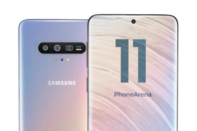 媒體依據相關傳聞繪製三星明年新一代旗艦機款Galaxy S11的假想概念設計渲染圖。(取材自PhoneArena)
