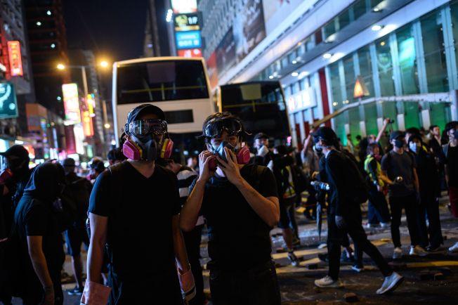 11日,香港示威者發起「三大罷」遊行。(Getty Images)