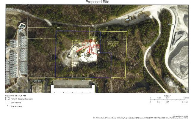 新瀝青廠預定地計畫圖。(福賽斯郡公開資料)
