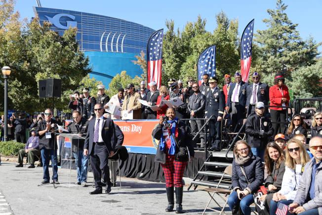 觀禮台上的各組織代表。